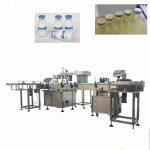 2 Heads Rotary Filling Machine , Disc Type Vial Bottle Filling Equipment