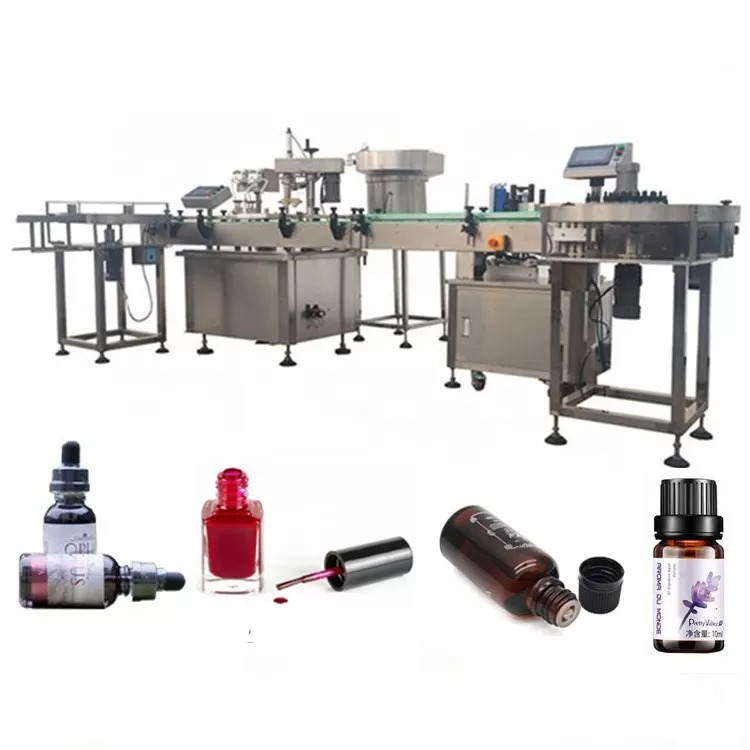 3 KW Essential Oil Bottle Filling Machine With Suction Anti Drip Device