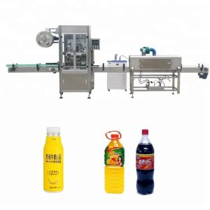 Automatic bottle sleeve shrinking machine