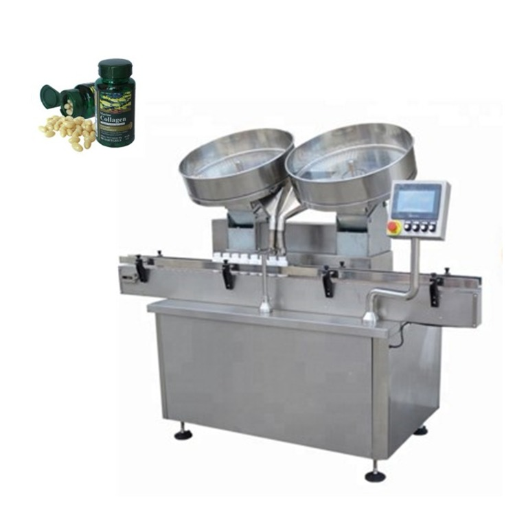 Automatic stainless steel pill capsule tablets counting filling machine
