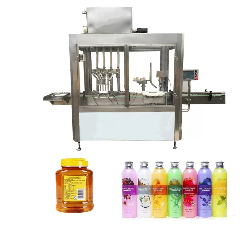 Color Touch Screen Oil Bottle Filling Machine