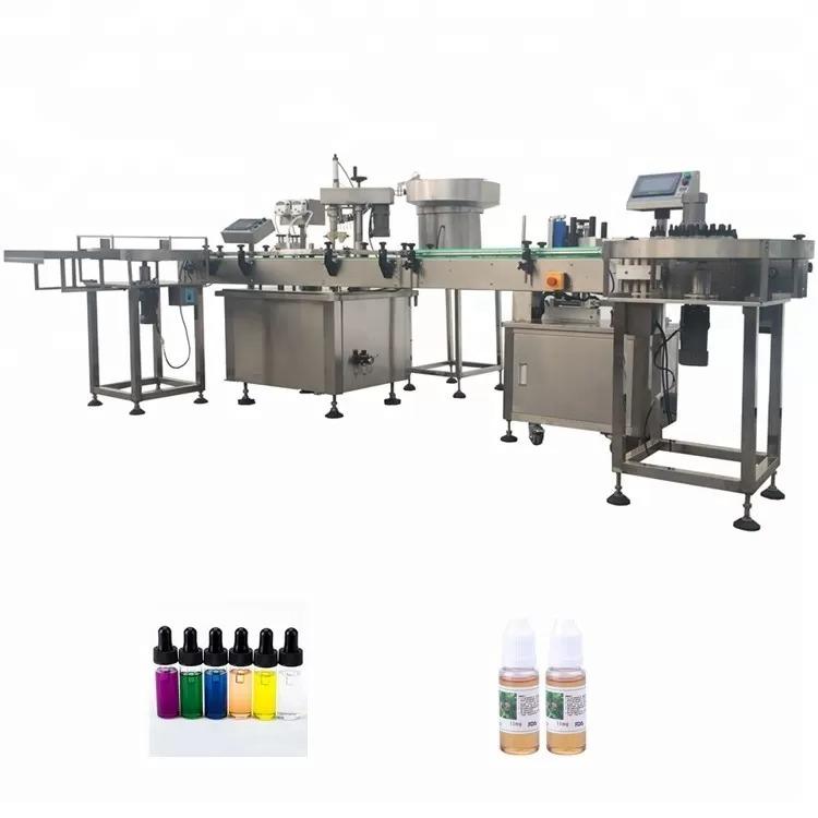 PLC Control Automatic Bottle Filling Machine For Essential Oil Cigarette