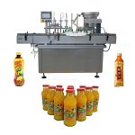 Pneumatic Driven Water Filling Machine , Stainless Steel Beverage Filling Machine