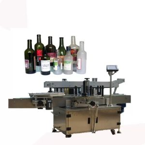 Square Bottle Front And Back Labeling Machine
