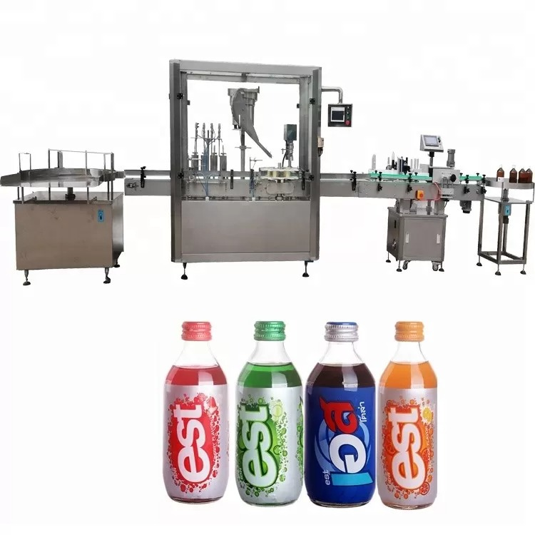 Touch Screen Bottle Filling Capping Machine