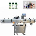 Vertical Stainless Steel Vial Labeling Machine , Wood Packaging Automatic Labeling Machine