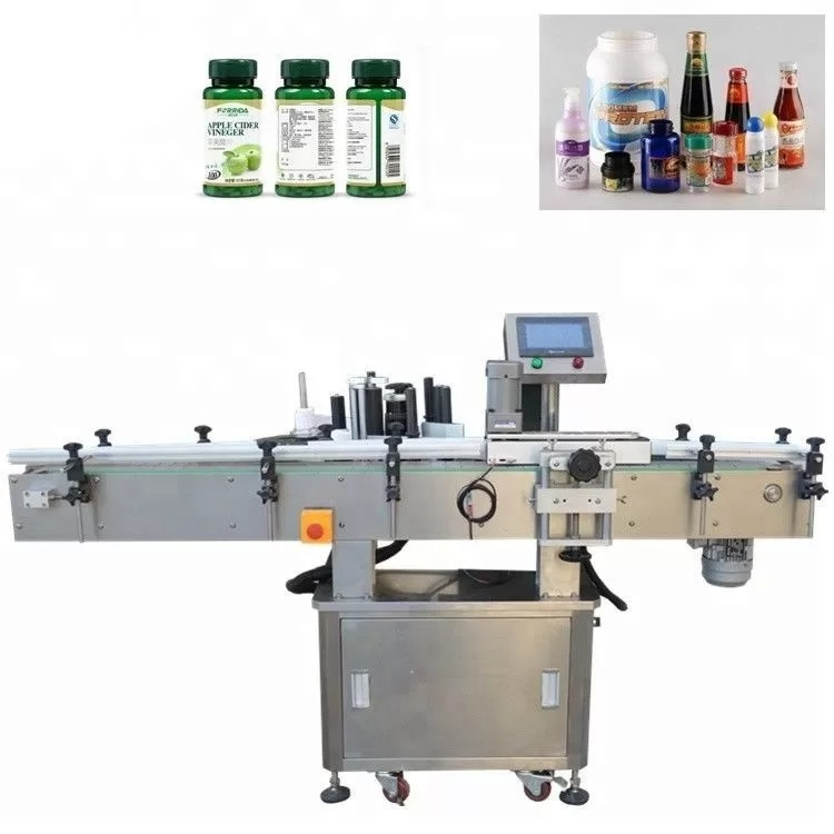 Vertical Stainless Steel Vial Labeling Machine